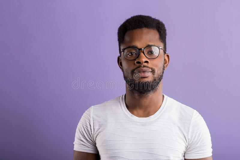 Portrait of handsome young african american man stock images