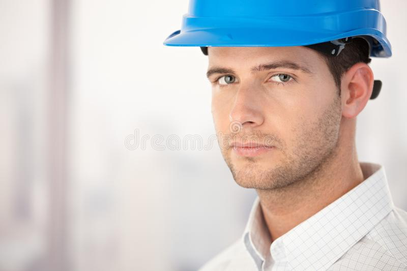 Portrait of handsome young architect royalty free stock images