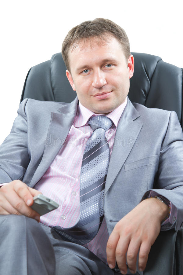 Portrait of a handsome young boss stock photo