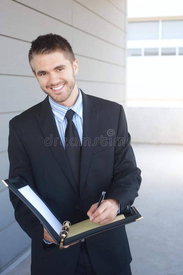 Portrait of a handsome young businessman royalty free stock image