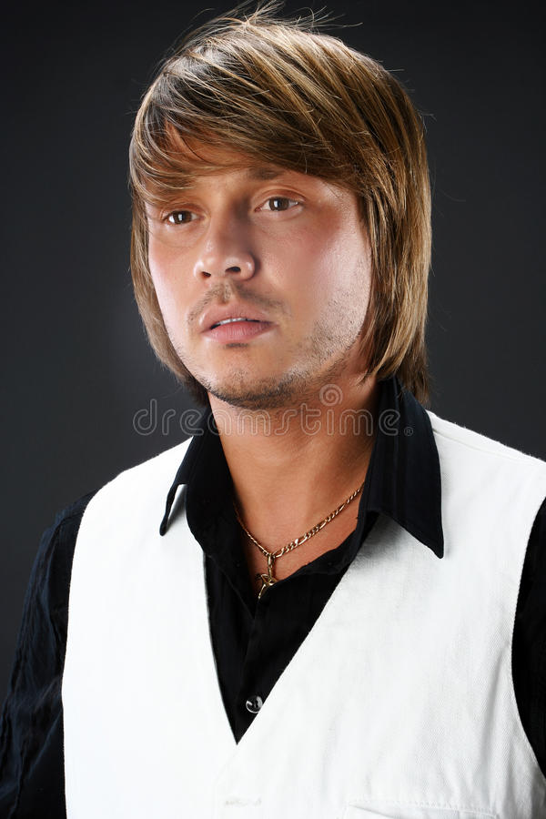 Portrait of handsome young man stock photography