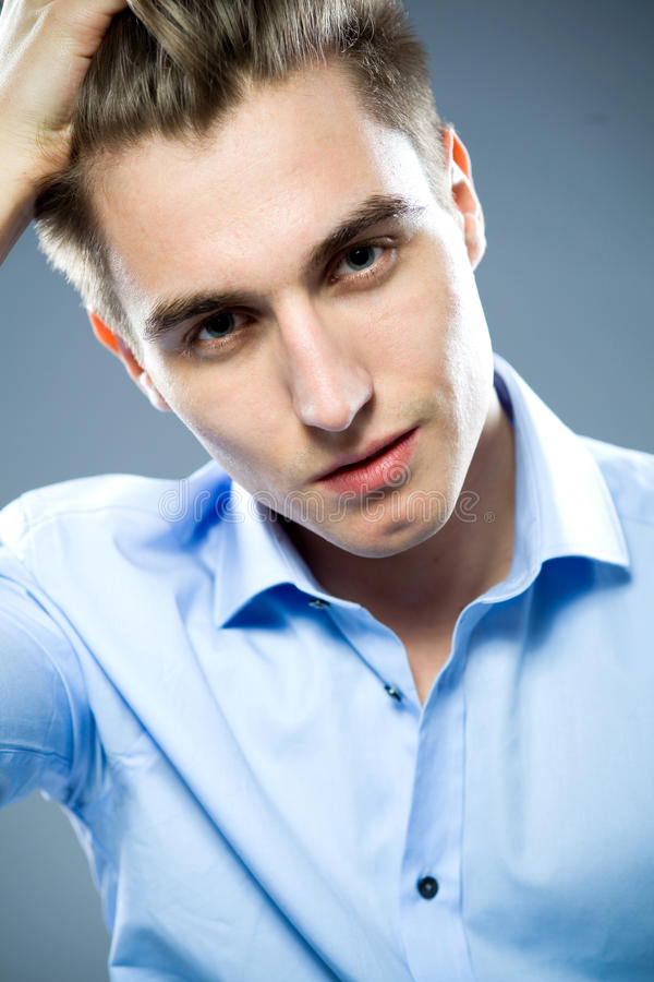 Portrait of handsome young man royalty free stock photo