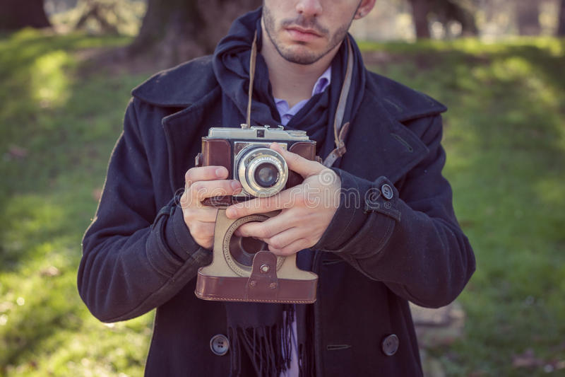 Portrait of a handsome young man stock images