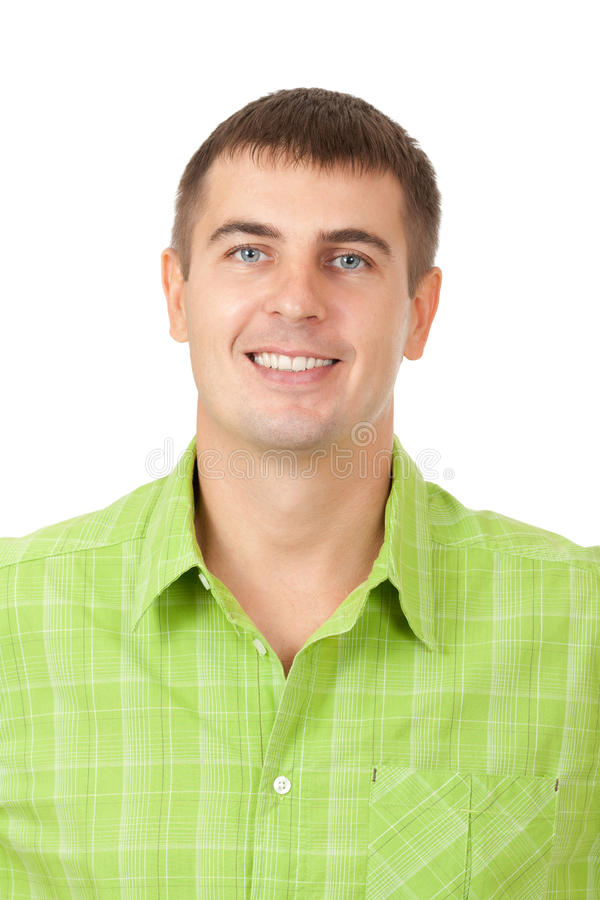 Portrait of a handsome young man enjoying royalty free stock photos