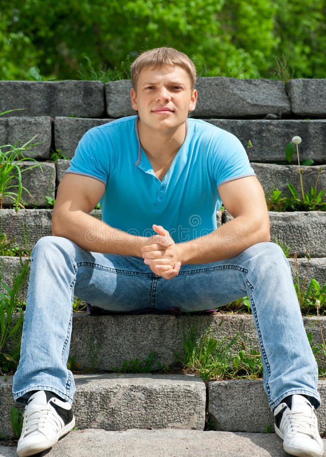 Download Portrait Of Handsome Young Man Outdoors Stock Photos - Image: 19615483