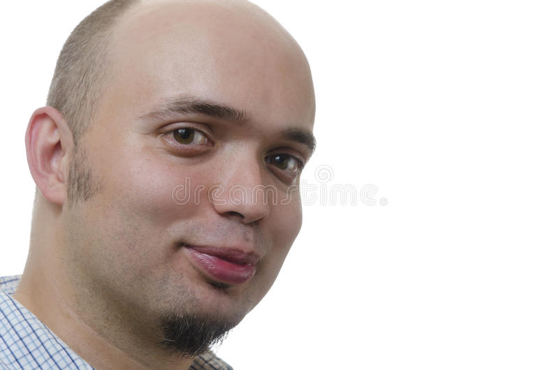 Portrait of a handsome young man stock image
