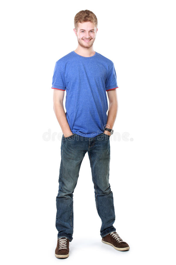 Portrait of a handsome young man smiling royalty free stock photography