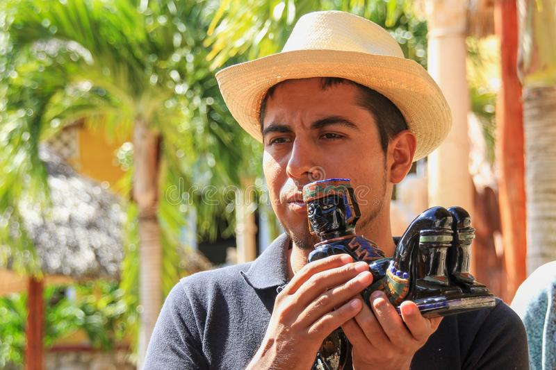 Portrait of handsome young  mexican guy royalty free stock photography