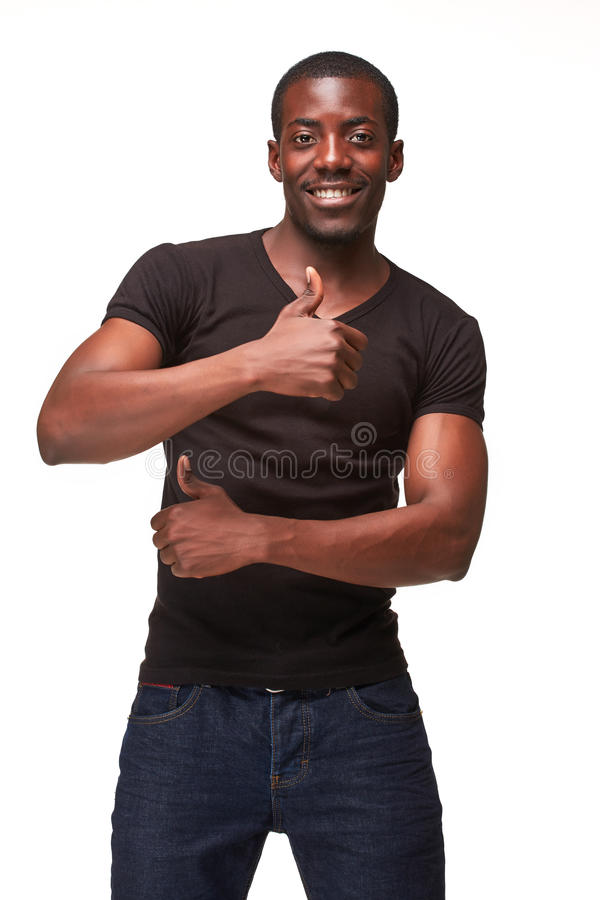 Portrait of handsome young smiling african man royalty free stock image
