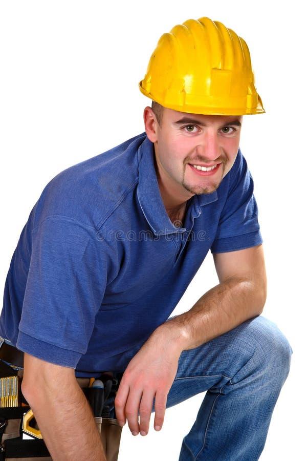 Portrait of handyman stock images