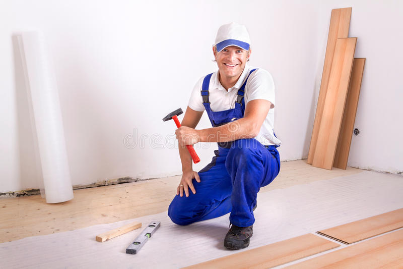 Portrait of a Handyman royalty free stock images