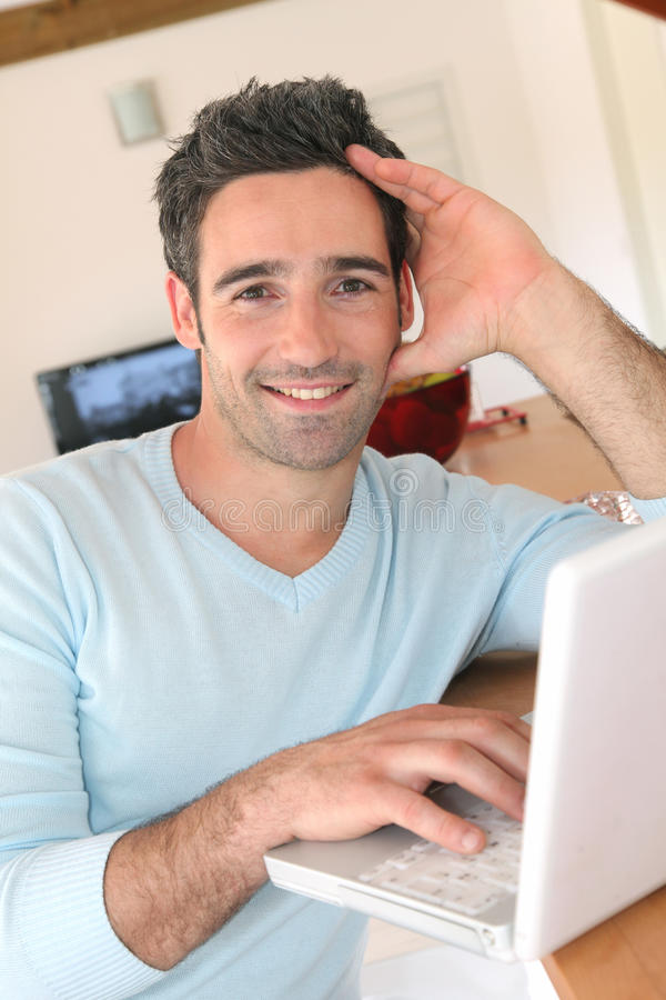 Portrait Of Hansome Guy Stock Images
