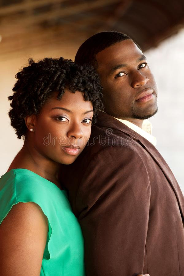 Portrait of an African American loving couple. royalty free stock image
