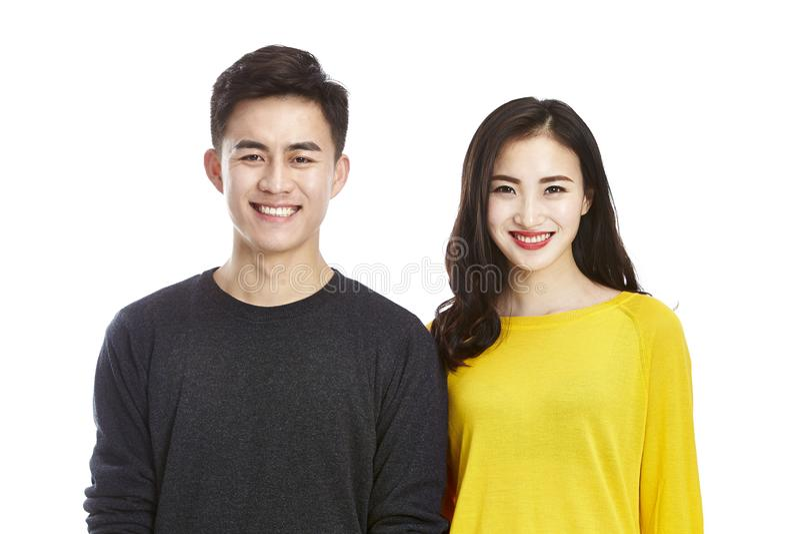 Portrait of happy asian couple stock image
