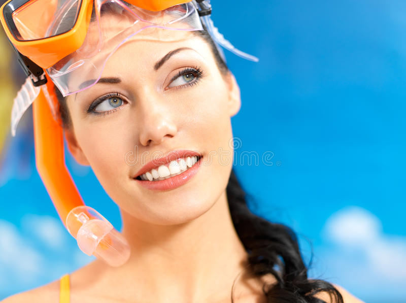 Download Portrait Of Happy Beautiful Woman At Beach Stock Image - Image: 28773921