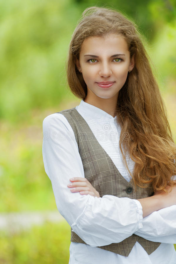 Download Portrait Of Happy Beautiful Young Stock Photo - Image: 27061298