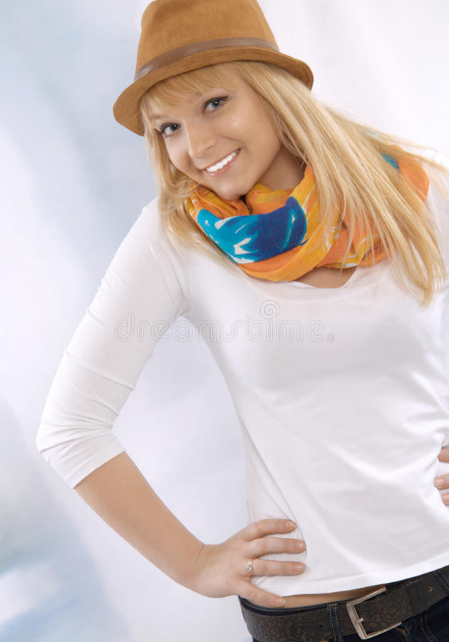 Download Portrait Of A Happy Beautiful Young Blond Woman Royalty Free Stock Photo - Image: 26028755