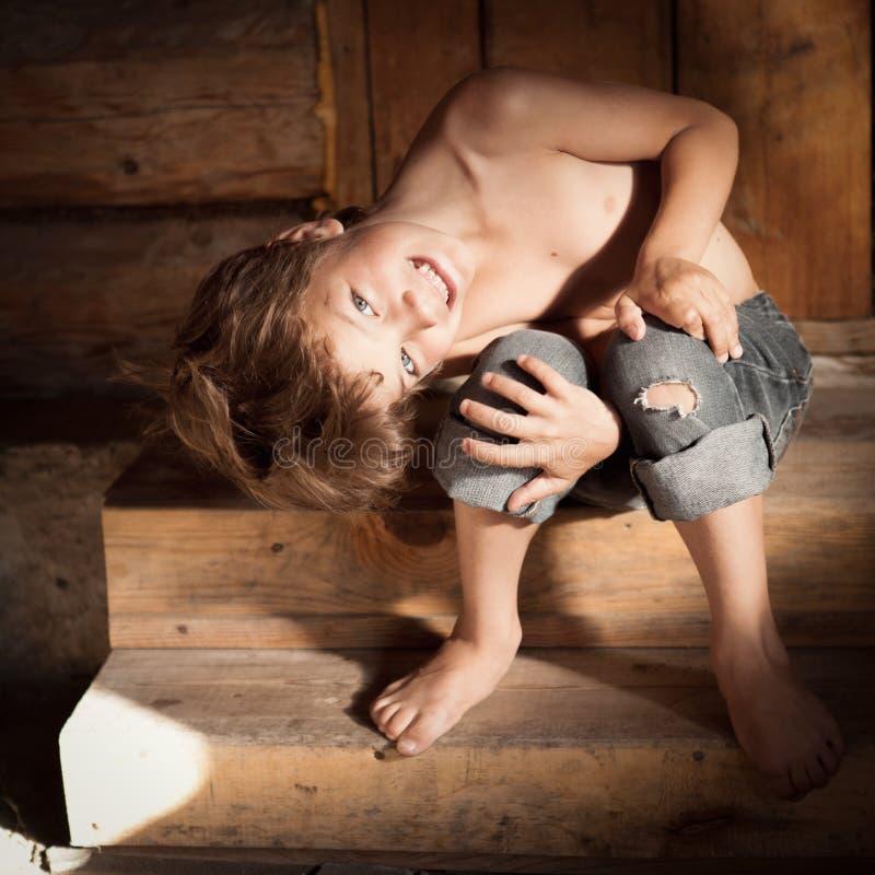 Portrait of happy boy royalty free stock photos