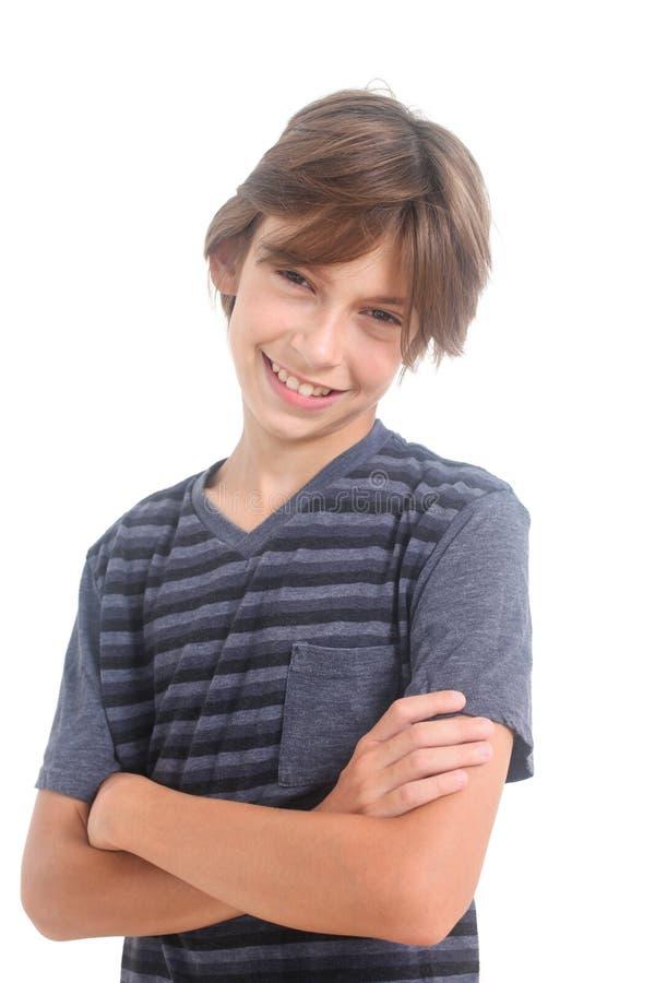Portrait of a happy boy stock photo