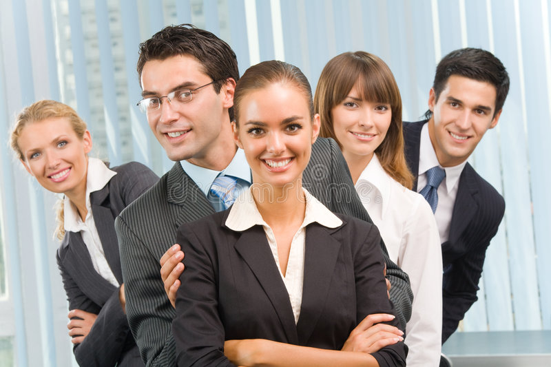 Download Portrait Of Happy Business Team Stock Photo - Image: 6198458