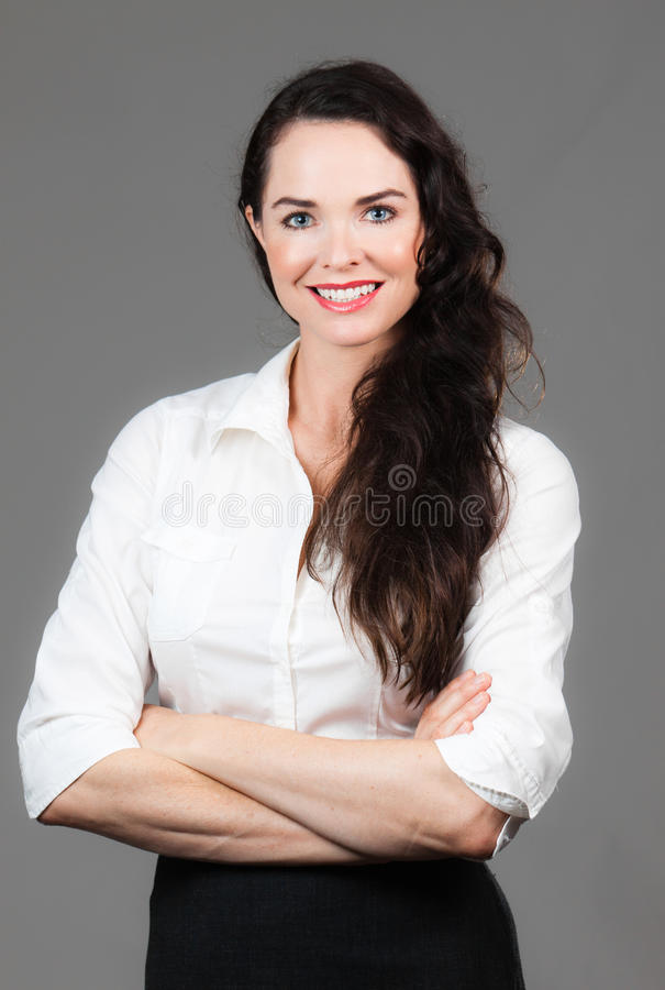 Download Portrait Of Happy Business Woman Stock Photo - Image: 24098212