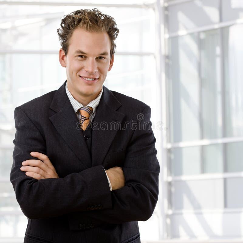 Portrait of happy businessman royalty free stock photo