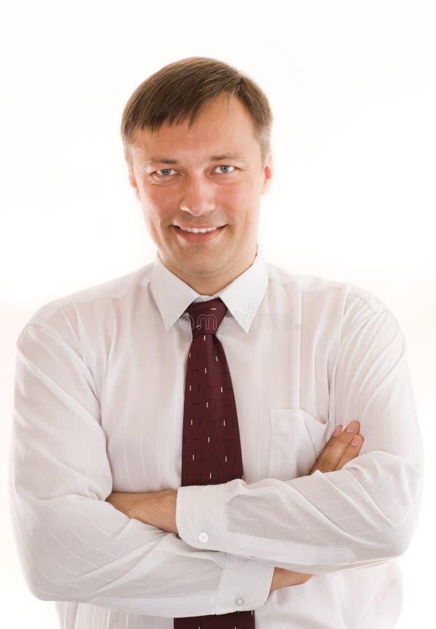Portrait of a happy businessman stock photos
