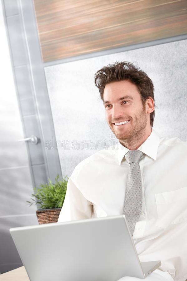 Portrait of happy businessman stock image