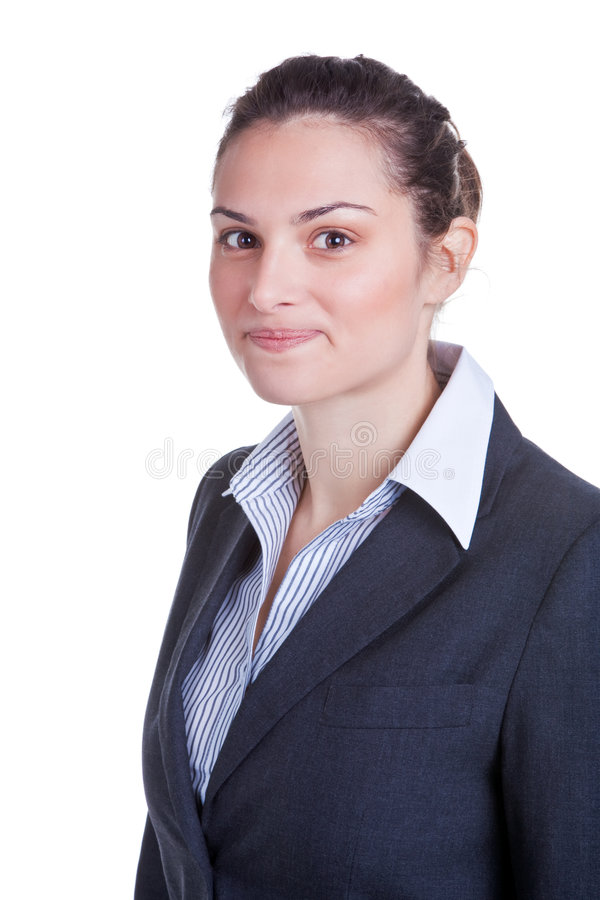 Portrait of a happy businesswoman royalty free stock photo