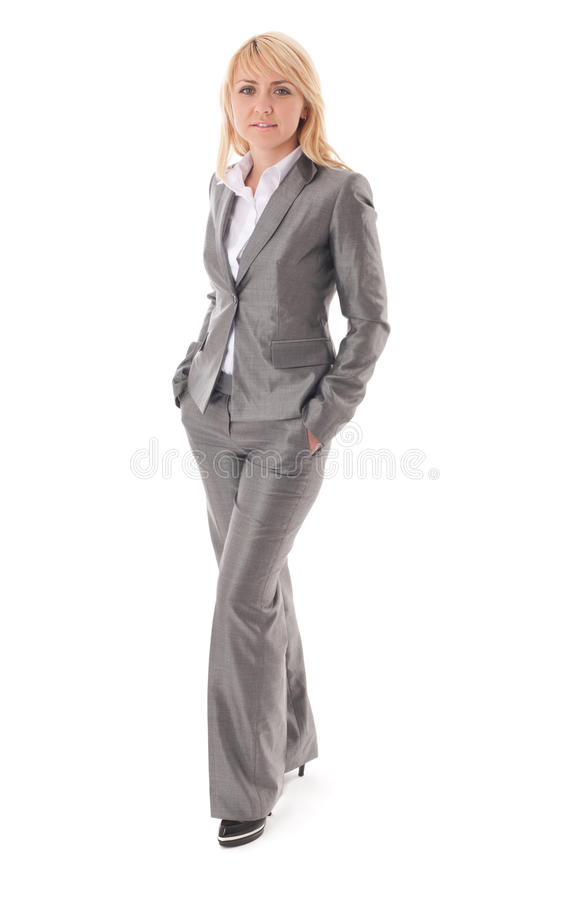 Portrait of happy businesswoman in formal dress royalty free stock images
