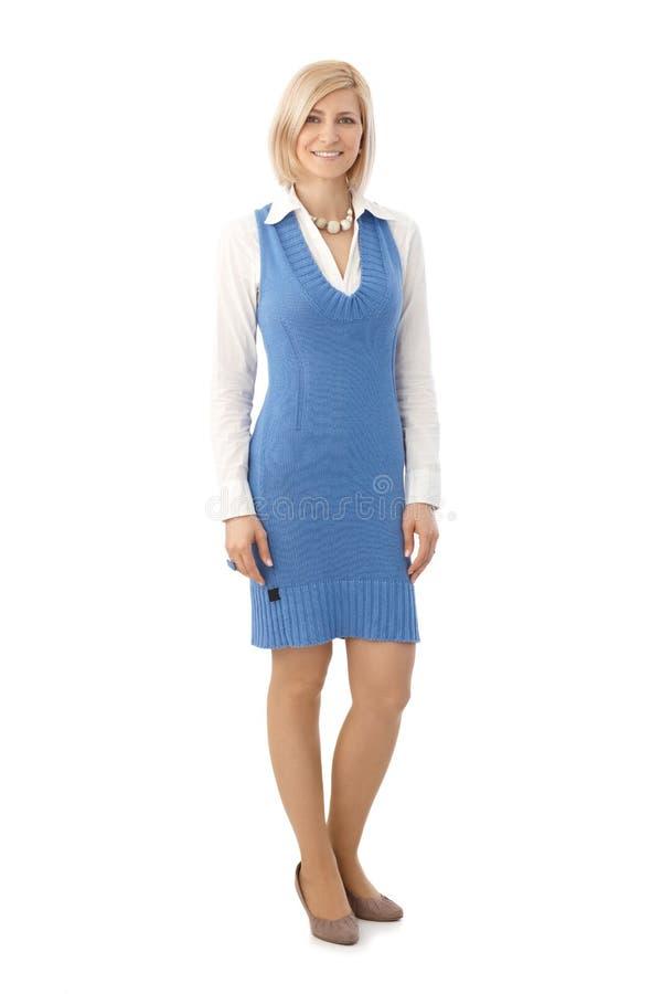 Portrait of happy businesswoman stock images