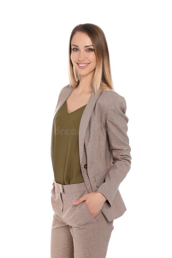 Portrait of happy businesswoman stock photography