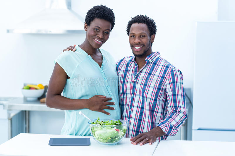Portrait of happy cheerful couple standing royalty free stock images
