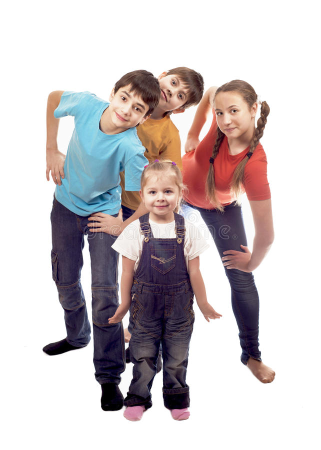 Portrait Of Happy Children Stock Photos