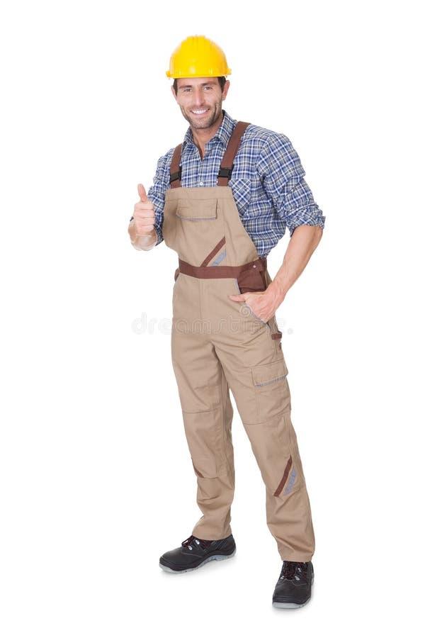 Portrait of happy construction worker stock image