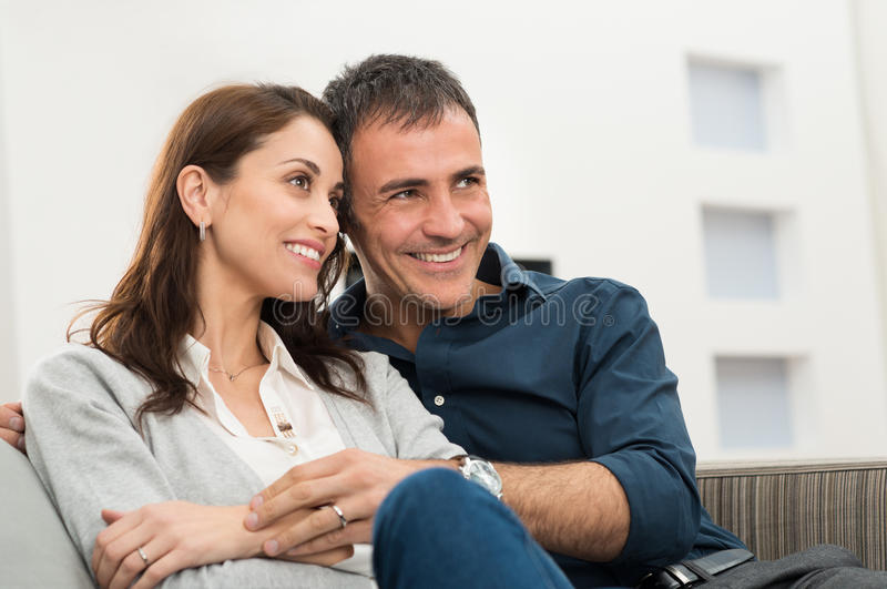 Download Portrait Of Happy Couple stock image. Image of male, home - 36972333