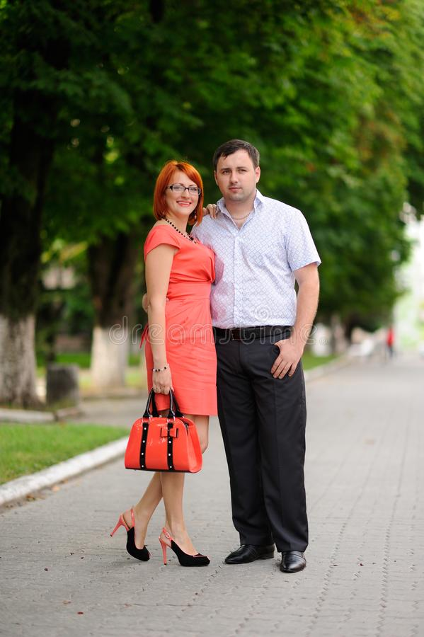 Portrait of a happy couple royalty free stock photography