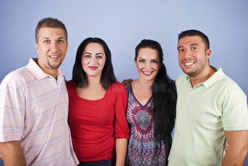 Portrait of happy couples royalty free stock photos