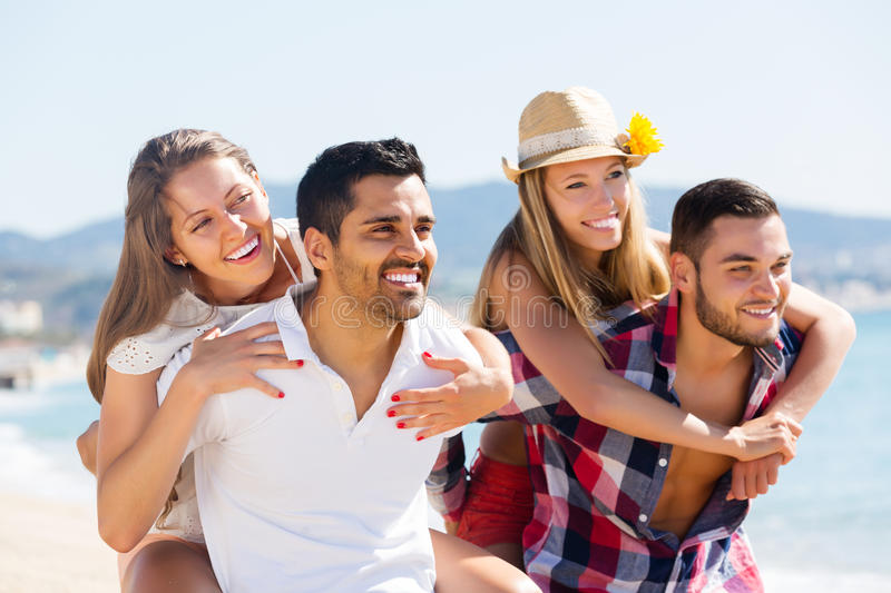 Portrait of happy couples in love royalty free stock photo