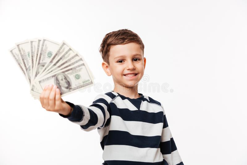 Portrait of a happy cute little kid royalty free stock images