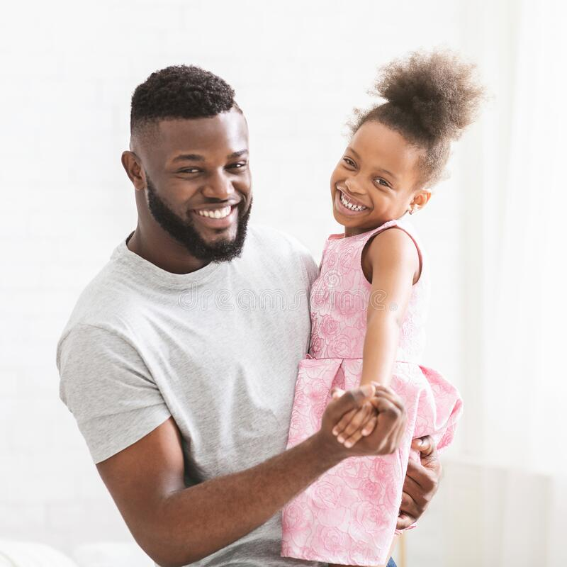 real black dad daughter