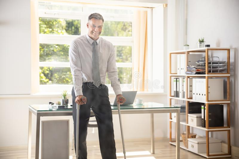 Portrait Of A Happy Disabled Businessman royalty free stock image