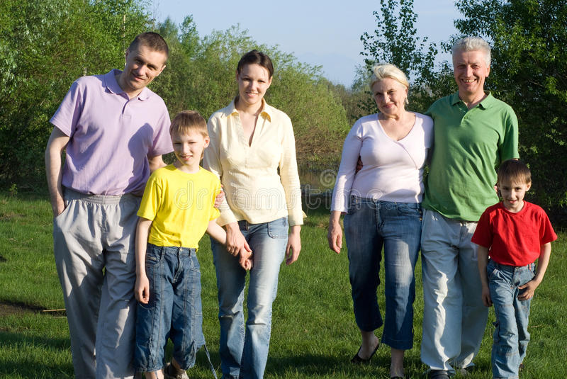 Portrait of a happy family royalty free stock images