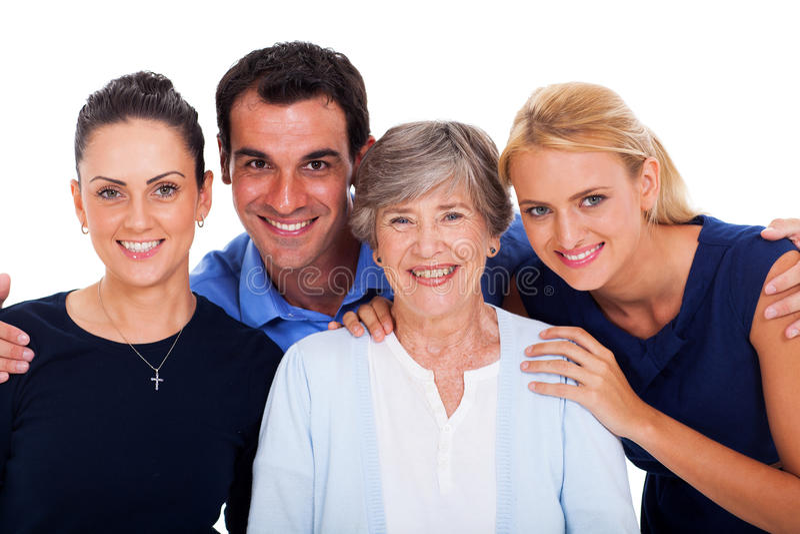 Portrait happy family stock images