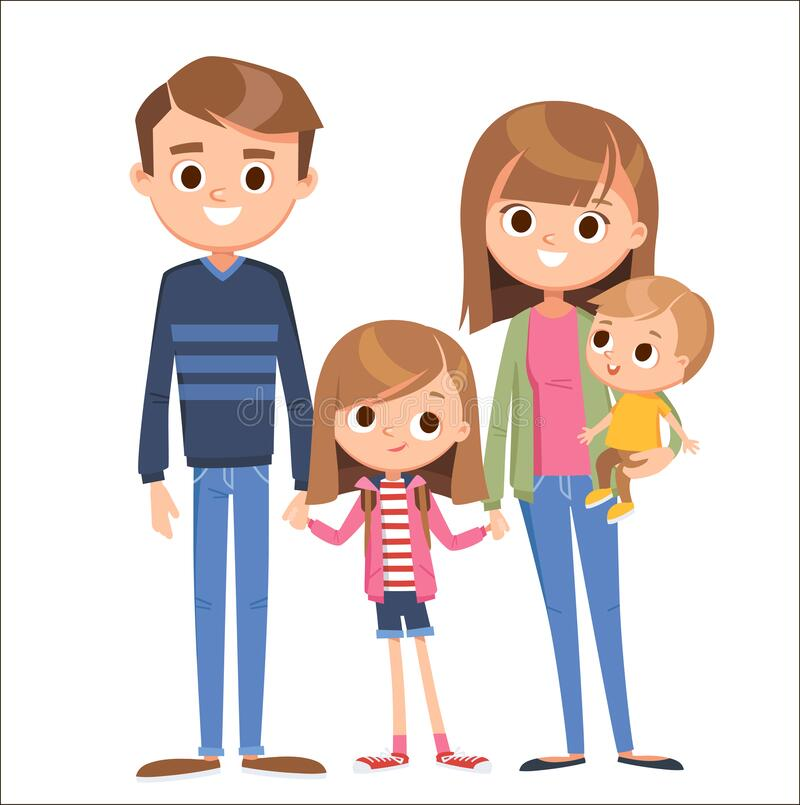 Silhouette Family Of 4 Black Png Clipart , Png Download - Silhouette  Transparent Families Png, Png Download - vhv