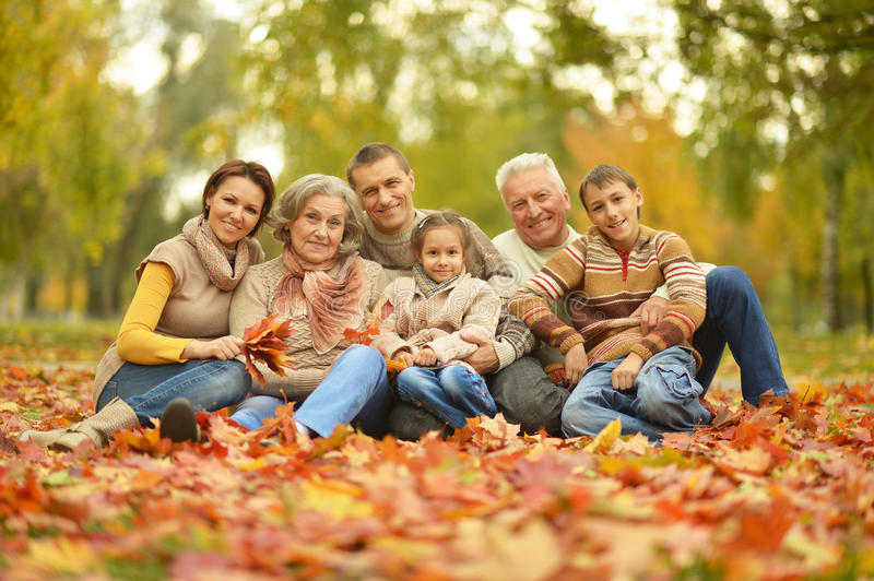 Portrait of happy family stock images