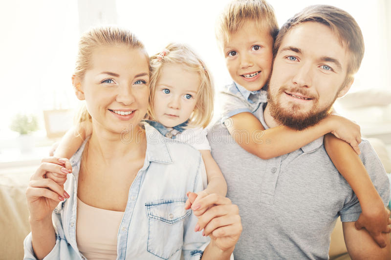 Portrait of happy family royalty free stock photography