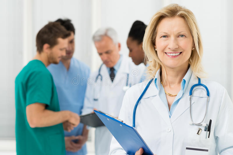 Download Portrait Of Happy Female Doctor Stock Photo - Image: 30881950