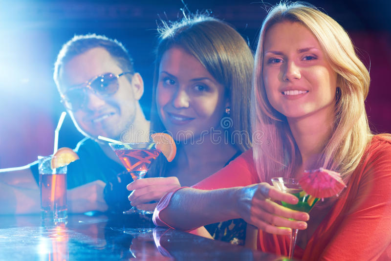 Party In Bar Stock Photos