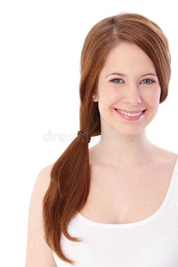 Download Portrait Of Happy Ginger Girl Stock Photo - Image: 28761102